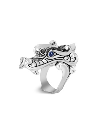 Main View - Click To Enlarge - JOHN HARDY - 'Legends Naga' sapphire spinel silver ring