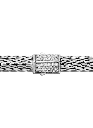 Detail View - Click To Enlarge - JOHN HARDY - Classic Chain Tiga' diamond silver small bracelet