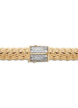 Detail View - Click To Enlarge - JOHN HARDY - Classic Chain Tiga' diamond 18k yellow gold small bracelet