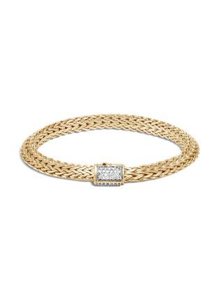 Main View - Click To Enlarge - JOHN HARDY - Classic Chain Tiga' diamond 18k yellow gold small bracelet