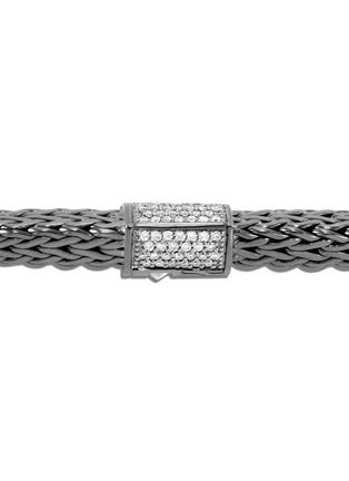 Detail View - Click To Enlarge - JOHN HARDY - Classic Chain Tiga' diamond silver rhodium medium bracelet