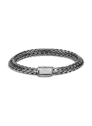 Main View - Click To Enlarge - JOHN HARDY - Classic Chain Tiga' diamond silver rhodium medium bracelet