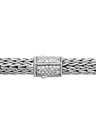 Detail View - Click To Enlarge - JOHN HARDY - Classic Chain Tiga' diamond silver medium bracelet