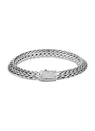 Main View - Click To Enlarge - JOHN HARDY - Classic Chain Tiga' diamond silver medium bracelet