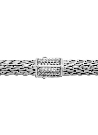 Detail View - Click To Enlarge - JOHN HARDY - Classic Chain Tiga' diamond silver large bracelet