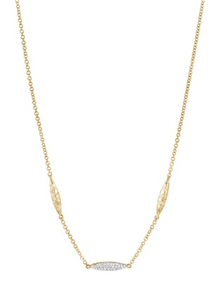 Detail View - Click To Enlarge - JOHN HARDY - Classic Chain' diamond 18k gold spear station necklace