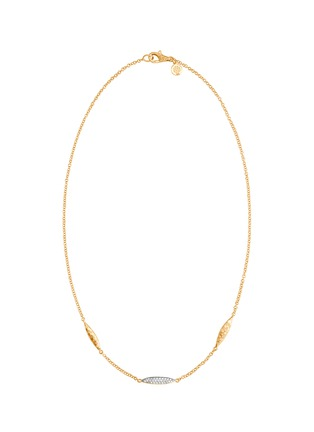 Main View - Click To Enlarge - JOHN HARDY - Classic Chain' diamond 18k gold spear station necklace