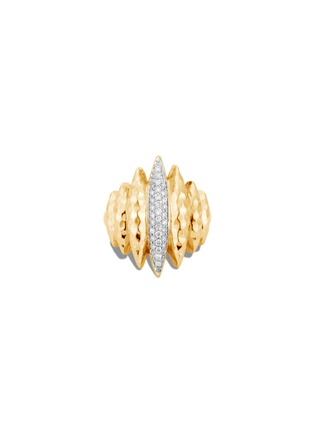 Detail View - Click To Enlarge - JOHN HARDY - Classic Chain' diamond 18k gold hammered ring
