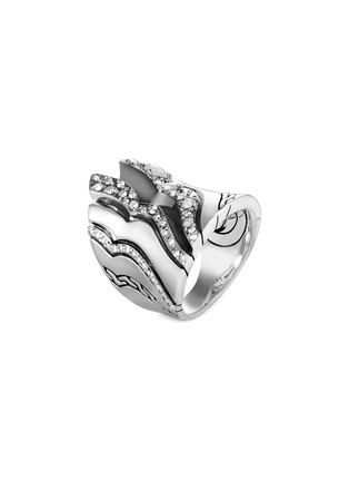 Main View - Click To Enlarge - JOHN HARDY - 'Lahar' diamond silver saddle ring