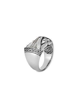 Main View - Click To Enlarge - JOHN HARDY - 'Classic Chain' silver damascus steel ring