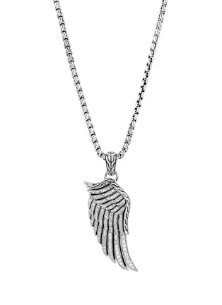 Main View - Click To Enlarge - JOHN HARDY - 'Legends Eagle' diamond silver wing pendant necklace