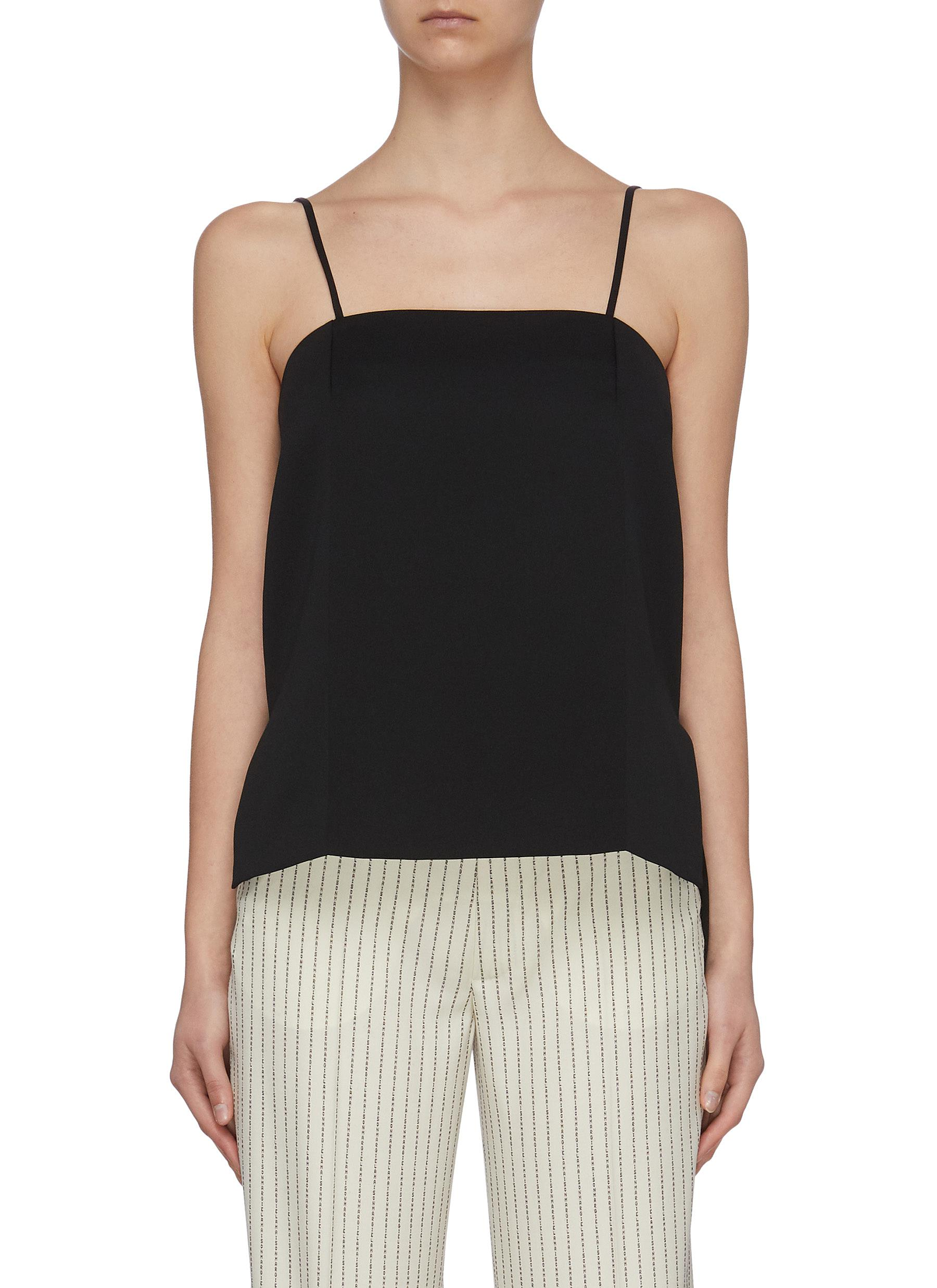 shop Maison Margiela Staggered hem crepe camisole top online
