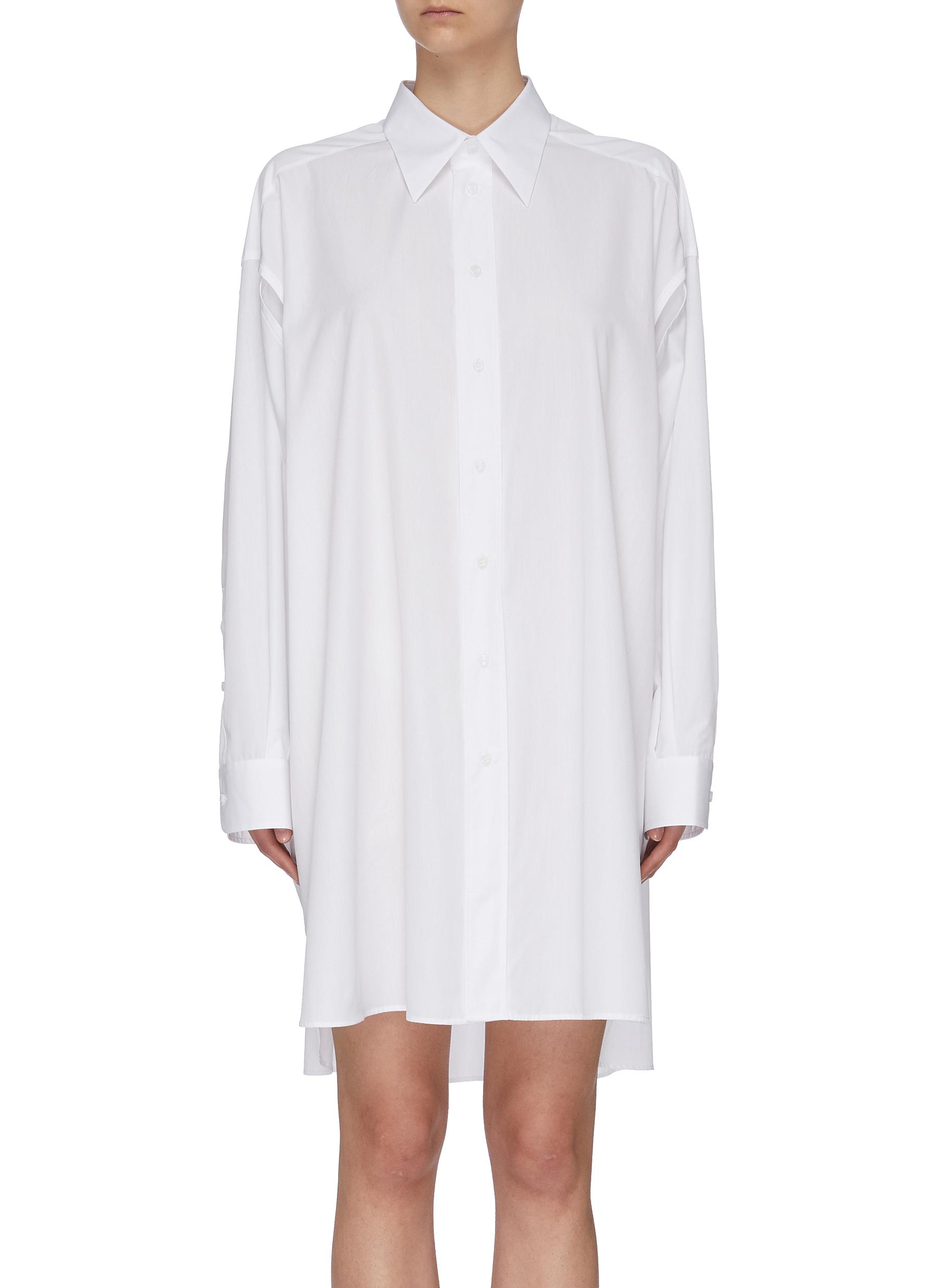 shop Maison Margiela Slit sleeve midi shirt dress online