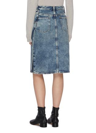 Back View - Click To Enlarge - MAISON MARGIELA - Washed denim midi skirt