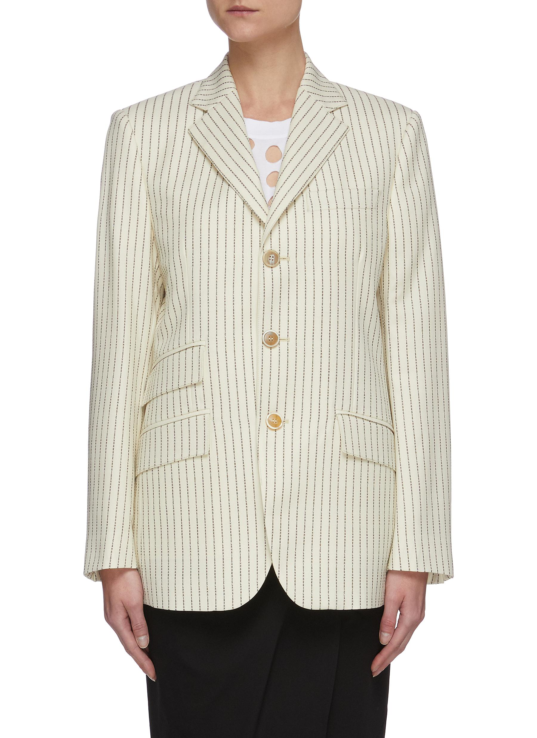 shop Maison Margiela Pinstripe single breast blazer online