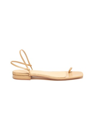 Main View - Click To Enlarge - STUDIO AMELIA - '1.3' strappy slingback leather sandals