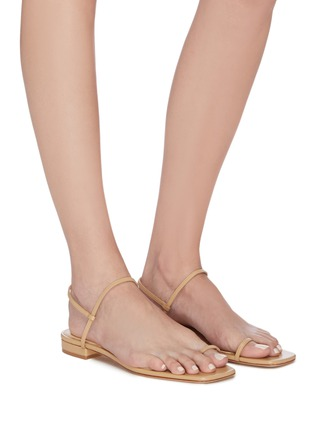 Figure View - Click To Enlarge - STUDIO AMELIA - '1.3' strappy slingback leather sandals