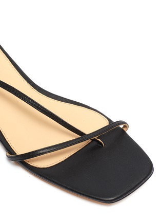 Detail View - Click To Enlarge - STUDIO AMELIA - '1.2' strappy slingback leather sandals