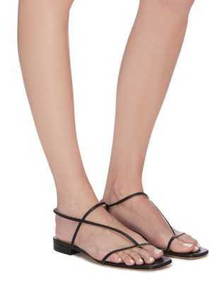 Figure View - Click To Enlarge - STUDIO AMELIA - '1.2' strappy slingback leather sandals