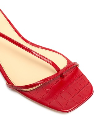 Detail View - Click To Enlarge - STUDIO AMELIA - '1.2' strappy slingback croc embossed leather sandals