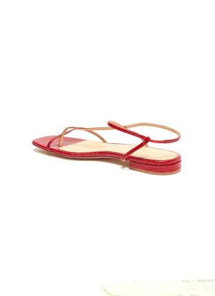 - STUDIO AMELIA - '1.2' strappy slingback croc embossed leather sandals