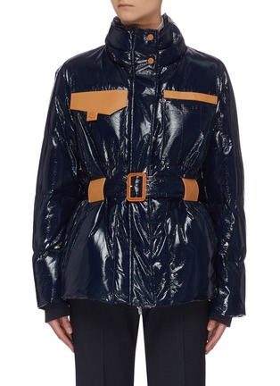 Main View - Click To Enlarge - COMME MOI - Belted zip puffer jacket