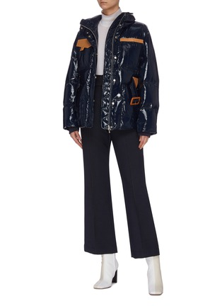 Figure View - Click To Enlarge - COMME MOI - Belted zip puffer jacket