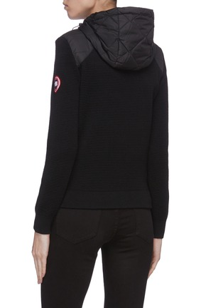 Back View - Click To Enlarge - CANADA GOOSE - 'Hybridge' quilted knit hoody