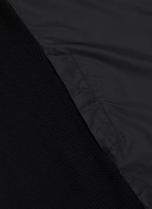 - CANADA GOOSE - 'Windbridge' nylon panelled knit sleeve hooded cardigan