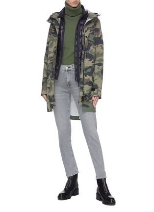 Figure View - Click To Enlarge - CANADA GOOSE - 'Hybridge Lite' outseam stand collar puffer jacket