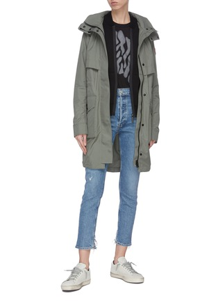 Figure View - Click To Enlarge - CANADA GOOSE - 'Lennox' zip wool jacket