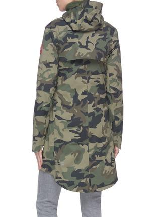 Back View - Click To Enlarge - CANADA GOOSE - 'Salida' camo print hooded raincoat