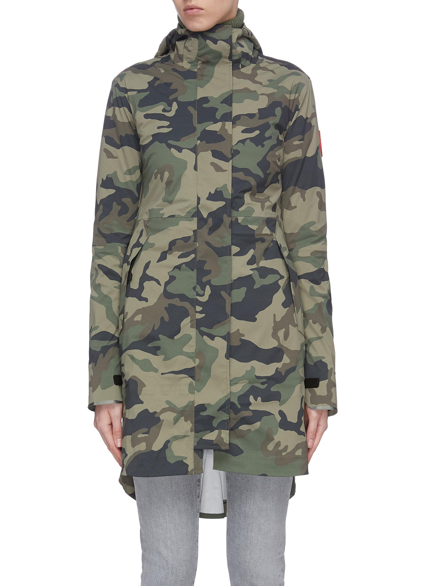 shop Canada Goose 'Salida' camo print hooded raincoat online