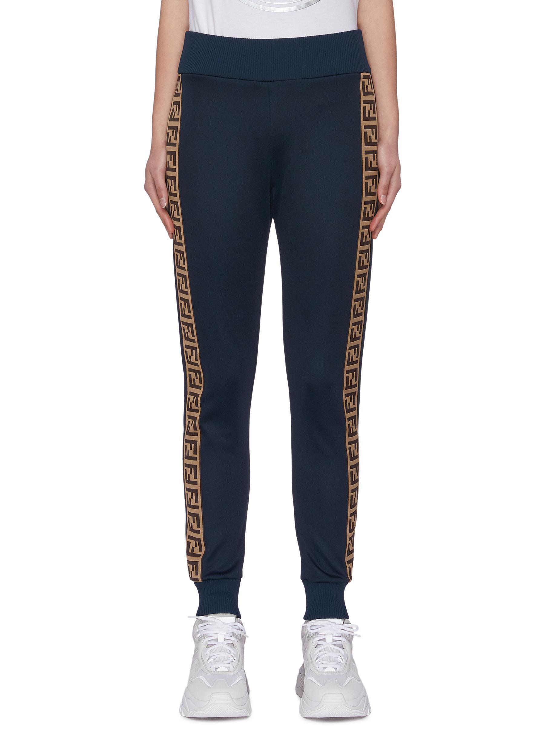 shop Fendi Sport 'Fendirama' logo webbing panel outseam jogging pants online