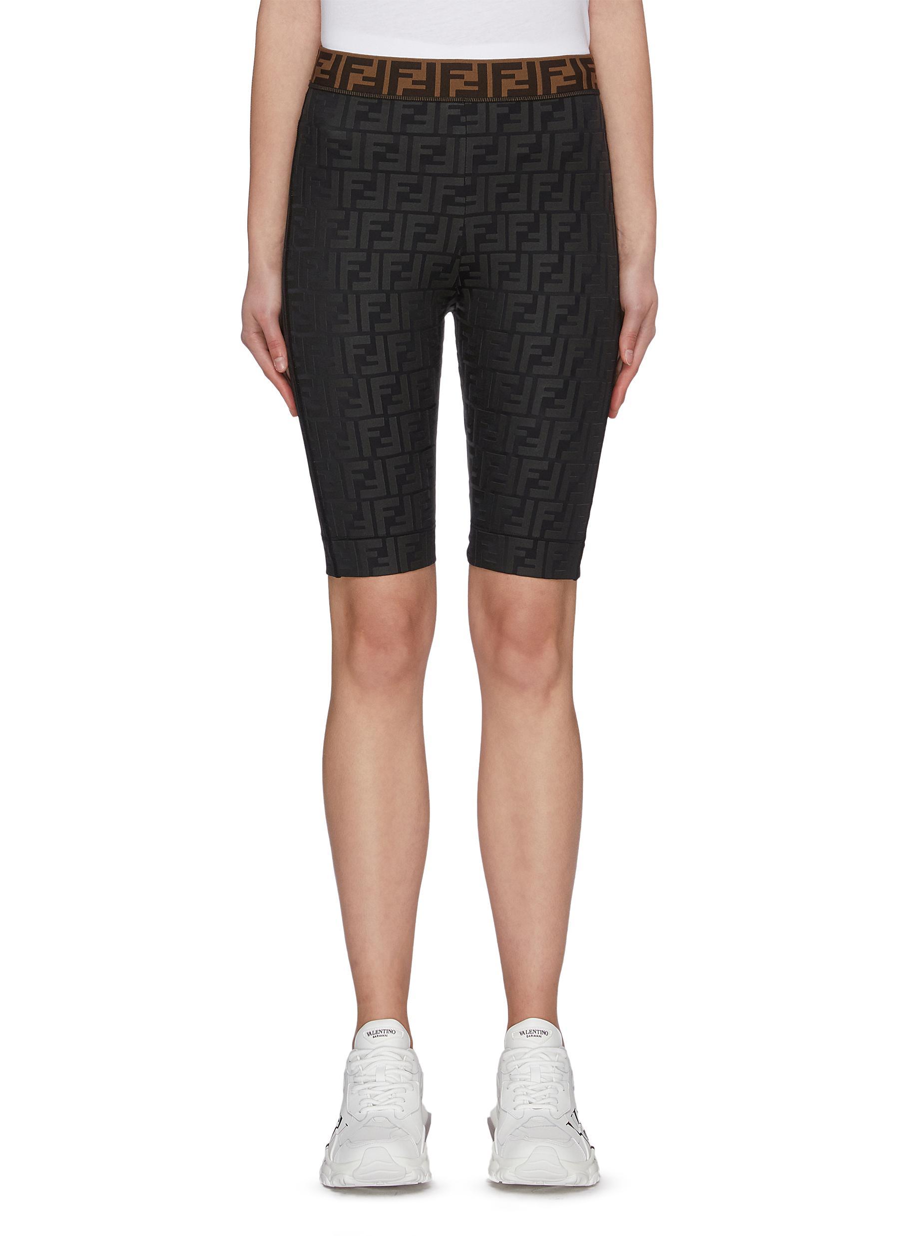 Buy Fendi Sport Pants & Shorts 'Fendirama' logo print biker shorts