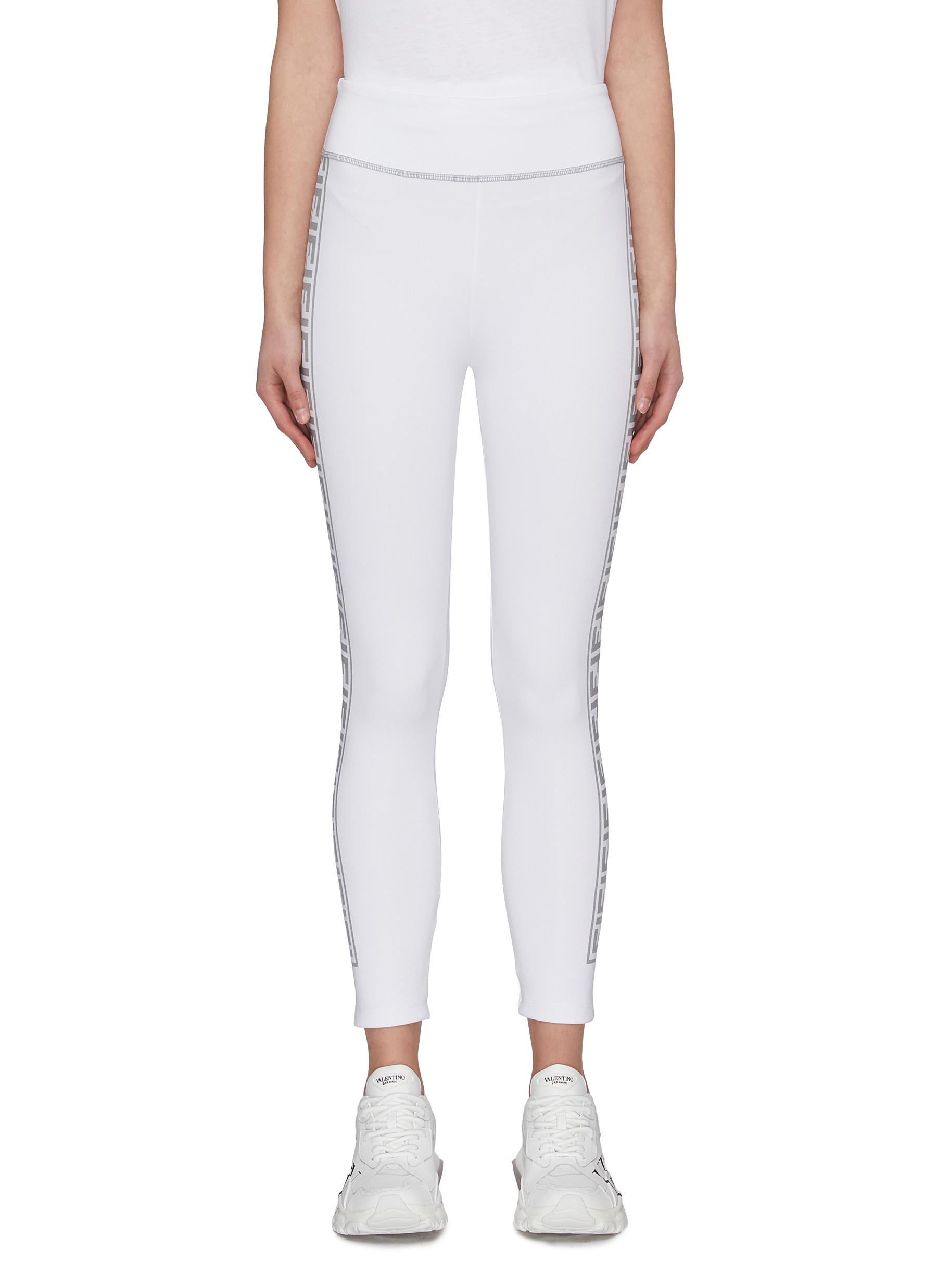 Buy Fendi Sport Pants & Shorts 'Fendirama' logo webbing leggings