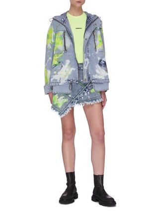 Figure View - Click To Enlarge - ANGEL CHEN - Paint Splatter Mini Wrap Skirt