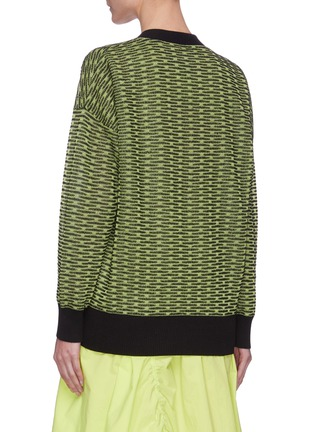 Back View - Click To Enlarge - ANGEL CHEN - Neon Cardigan