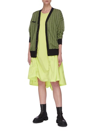 Figure View - Click To Enlarge - ANGEL CHEN - Neon Cardigan
