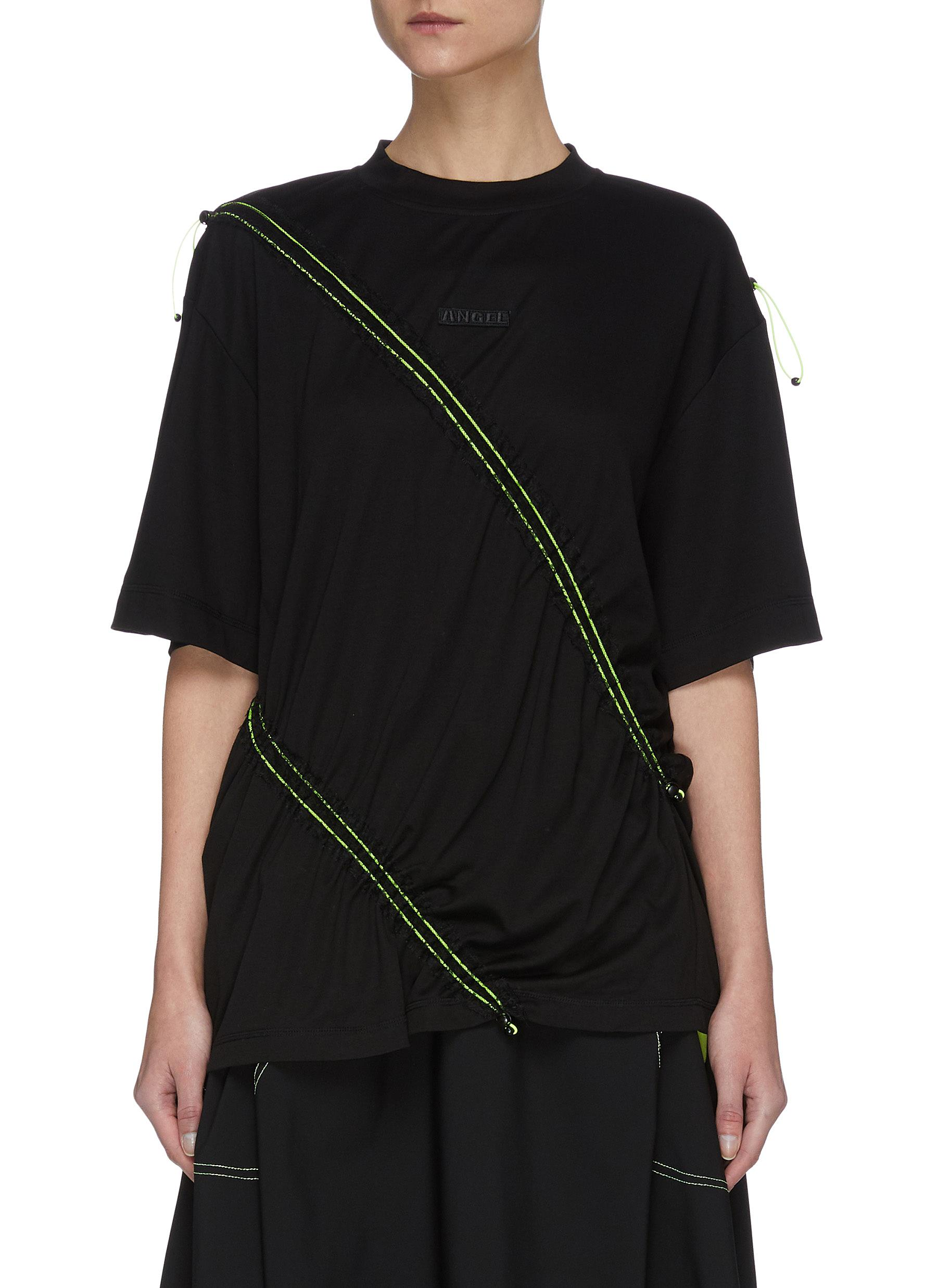 Buy Angel Chen Tops Piping Pleat T-shirt