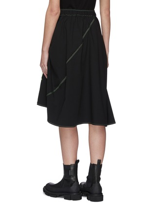 Back View - Click To Enlarge - ANGEL CHEN - Neon Cut-out Pockets Asymmetric Skirt