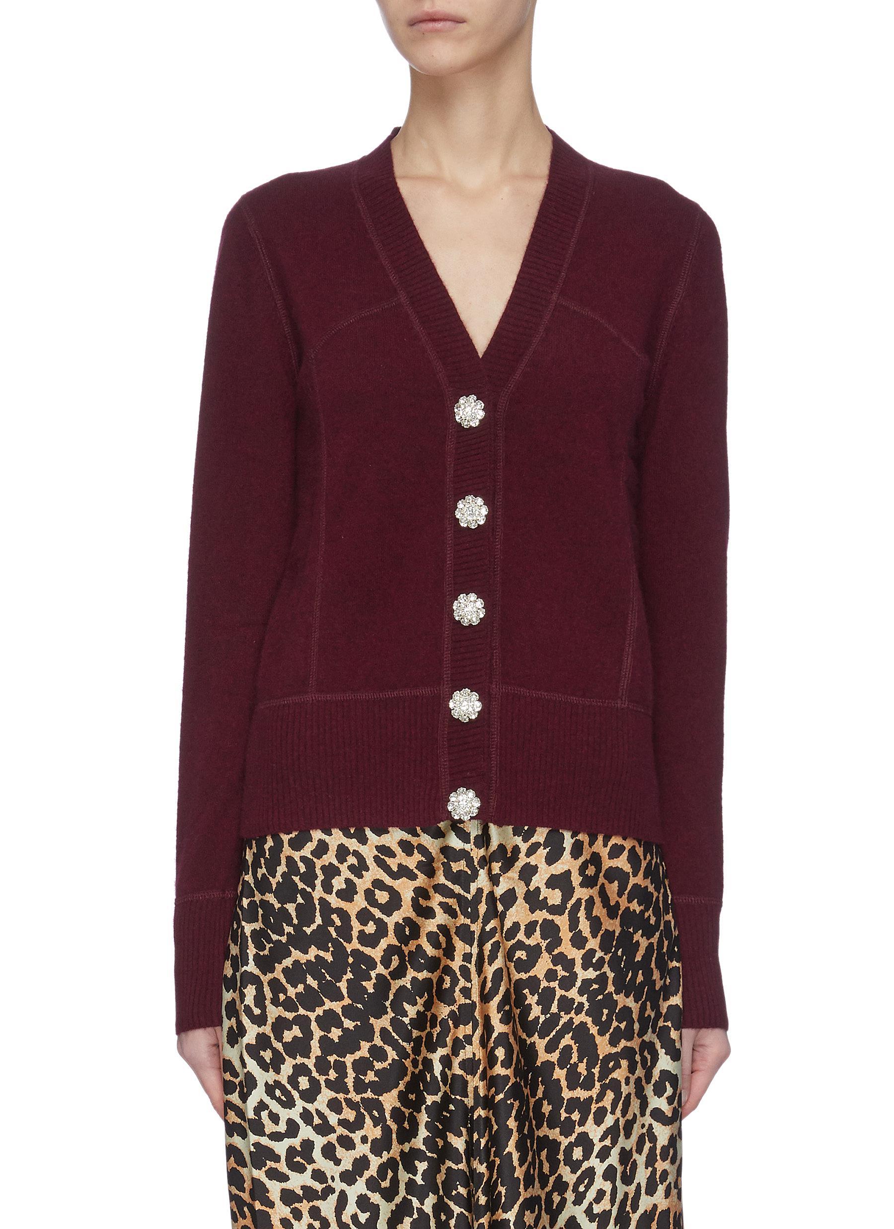 shop Ganni Cashmere Knit Cardigan online