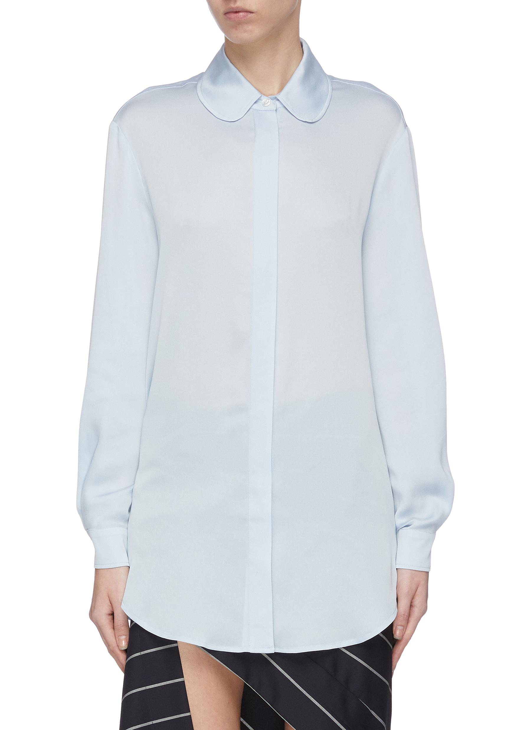 shop Racil Round collar button-up shirt online
