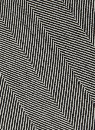 - RACIL - Back slit stripe wool pencil skirt