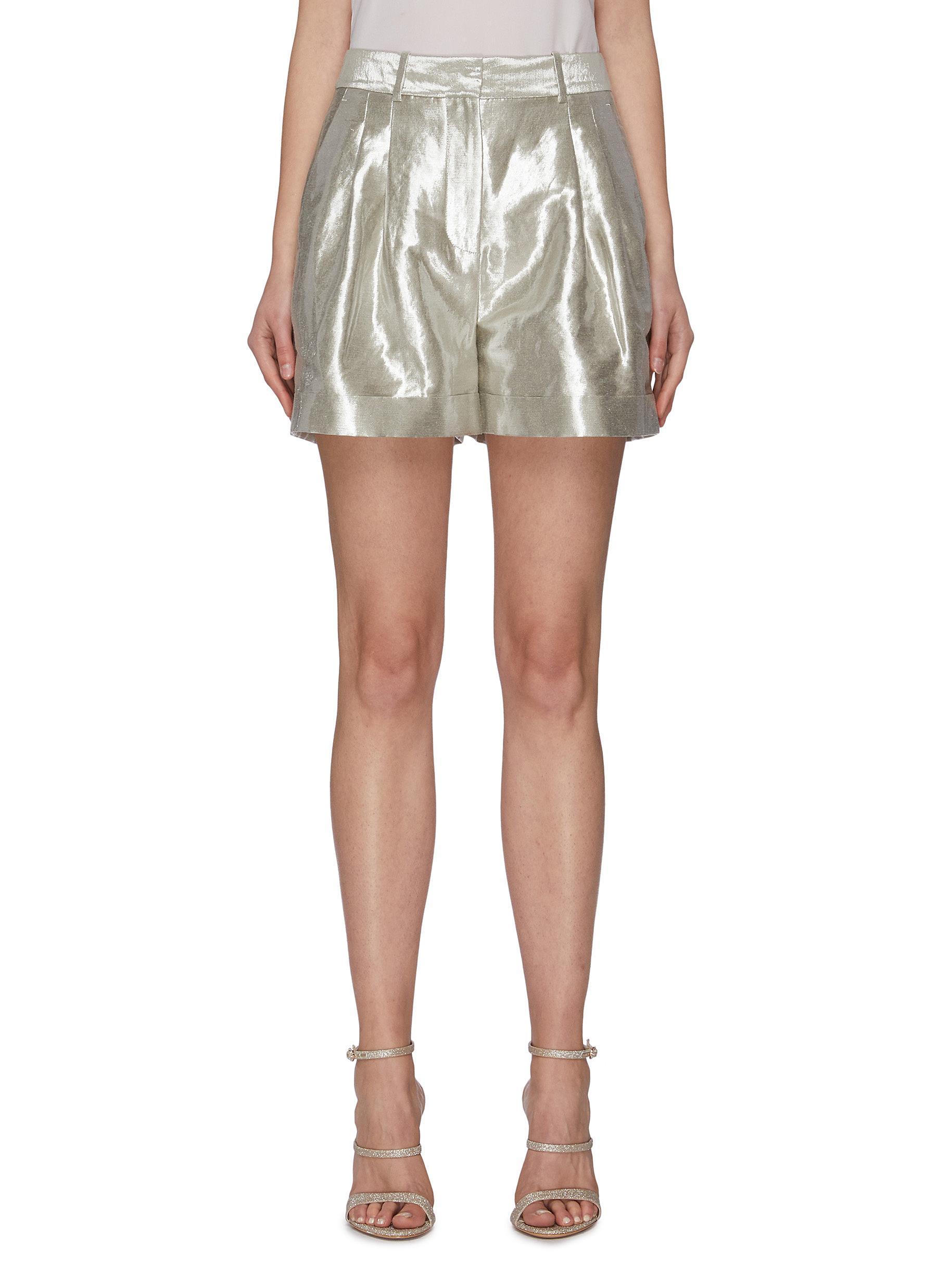 shop Racil 'City' metallic shorts online