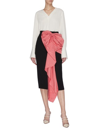 Figure View - Click To Enlarge - RACIL - Bow embellished pencil skirt
