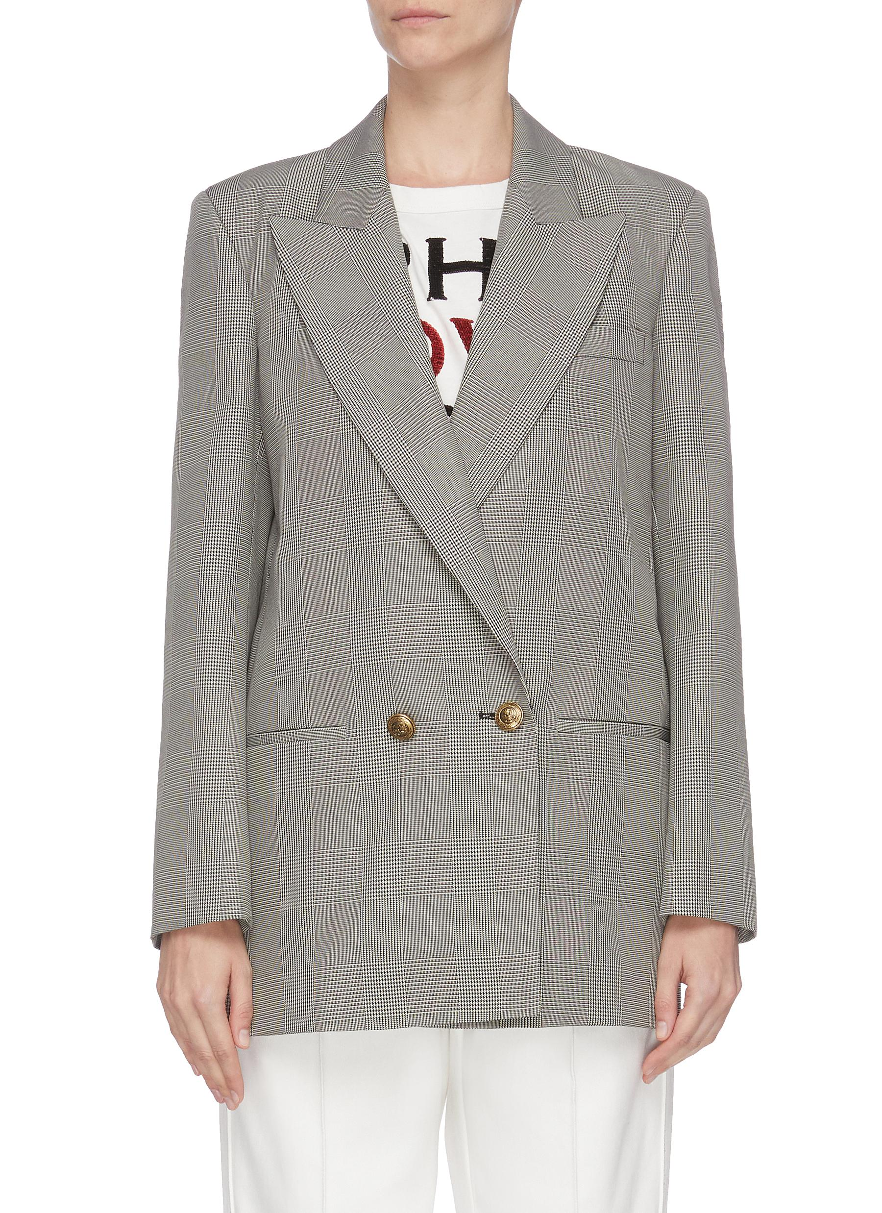 shop Philosophy Di Lorenzo Serafini Prince of Wales check double breasted blazer online