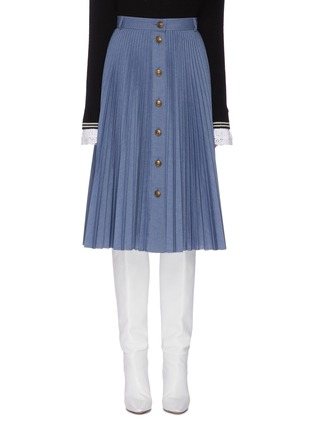 Main View - Click To Enlarge - PHILOSOPHY DI LORENZO SERAFINI - Button front pleated midi skirt