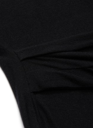 - VINCE - Asymmetric slit hem gathered detail dress