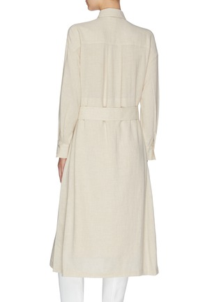 Back View - Click To Enlarge - VINCE - Belted shirt dress